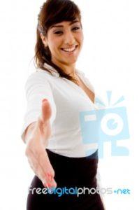 lady hand shake